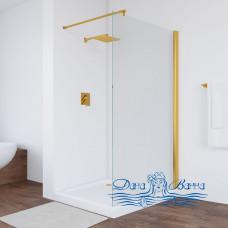 Душевая перегородка Vegas Glass EAF 106 09 01 профиль золото, стекло прозрачное