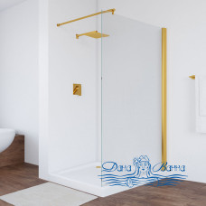 Душевая перегородка Vegas Glass EAF 116 09 01 профиль золото, стекло прозрачное