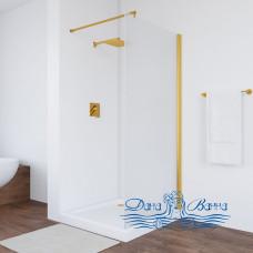 Душевая перегородка Vegas Glass EAF 76 09 10 профиль золото, стекло сатин