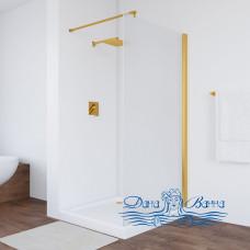 Душевая перегородка Vegas Glass EAF 86 09 10 профиль золото, стекло сатин