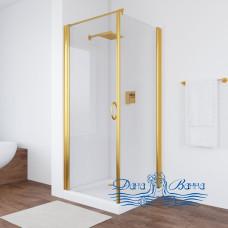 Душевой уголок Vegas Glass EP-Fis 80 09 01 L профиль золото, стекло прозрачное