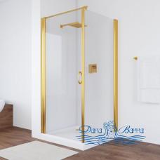 Душевой уголок Vegas Glass EP-Fis 90 09 01 L профиль золото, стекло прозрачное