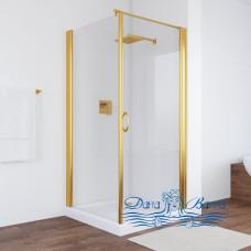 Душевой уголок Vegas Glass EP-Fis 90 09 01 R профиль золото, стекло прозрачное