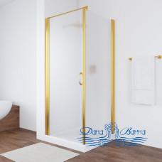 Душевой уголок Vegas Glass EP-Fis 80 09 10 L профиль золото, стекло сатин