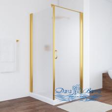 Душевой уголок Vegas Glass EP-Fis 90 09 10 R профиль золото, стекло сатин