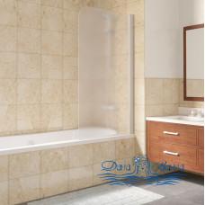 Шторка на ванну Vegas Glass EV Lux 75 01 10 R профиль белый, стекло сатин