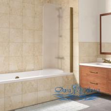 Шторка на ванну Vegas Glass EV Lux 75 05 10 R профиль бронза, стекло сатин