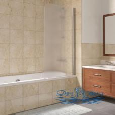 Шторка на ванну Vegas Glass EV Lux 75 08 10 R профиль глянцевый хром, стекло сатин