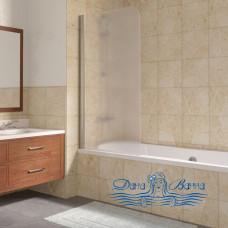 Шторка на ванну Vegas Glass EV Lux 75 08 10 L профиль глянцевый хром, стекло сатин