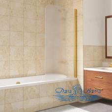 Шторка на ванну Vegas Glass EV Lux 75 09 10 R профиль золото, стекло сатин