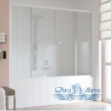 Шторка на ванну Vegas Glass Z2V 180 01 01 профиль белый, стекло прозрачное