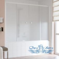 Шторка на ванну Vegas Glass Z2V 180 01 10 профиль белый, стекло сатин