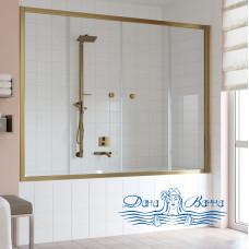 Шторка на ванну Vegas Glass Z2V 180 05 01 профиль бронза, стекло прозрачное