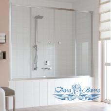 Шторка на ванну Vegas Glass Z2V 180 08 01 профиль глянцевый хром, стекло прозрачное