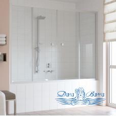 Шторка на ванну Vegas Glass Z2V 180 07 01 профиль хром, стекло прозрачное