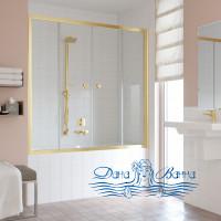 Шторка на ванну Vegas Glass Z2V 150 09 01 профиль золото, стекло прозрачное