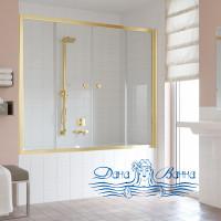Шторка на ванну Vegas Glass Z2V 180 09 01 профиль золото, стекло прозрачное