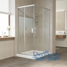 Душевой уголок Vegas Glass ZA-F 100х80 07 01 профиль хром, стекло прозрачное