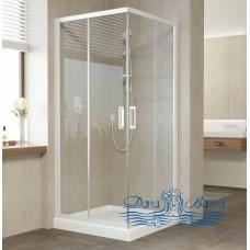 Душевой уголок Vegas Glass ZA 80 01 01 профиль белый, стекло прозрачное