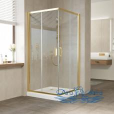 Душевой уголок Vegas Glass ZA 90 09 01 профиль золото, стекло прозрачное