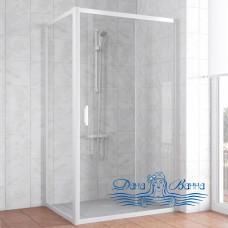 Душевой уголок Vegas Glass ZP+ZPV 100х80 01 01 профиль белый, стекло прозрачное
