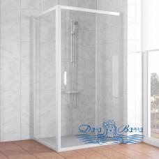 Душевой уголок Vegas Glass ZP+ZPV 100х100 01 01 профиль белый, стекло прозрачное