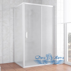 Душевой уголок Vegas Glass ZP+ZPV 100х80 01 10 профиль белый, стекло сатин