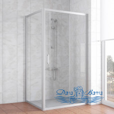 Душевой уголок Vegas Glass ZP+ZPV 100х100 07 01 профиль хром, стекло прозрачное
