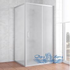 Душевой уголок Vegas Glass ZP+ZPV 100х100 07 10 профиль хром, стекло сатин
