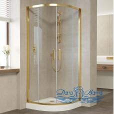 Душевой уголок Vegas Glass ZS 90 09 01 профиль золото, стекло прозрачное