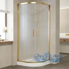 Душевой уголок Vegas Glass ZS 90 09 10 профиль золото, стекло сатин