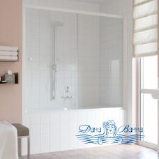 Шторка на ванну Vegas Glass ZV 180 01 01 профиль белый, стекло прозрачное