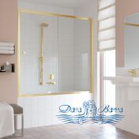 Шторка на ванну Vegas Glass ZV 150 09 01 профиль золото, стекло прозрачное