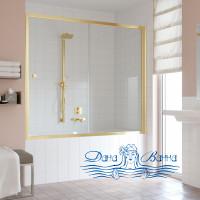 Шторка на ванну Vegas Glass ZV 170 09 01 профиль золото, стекло прозрачное