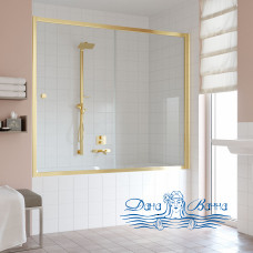 Шторка на ванну Vegas Glass ZV 180 09 01 профиль золото, стекло прозрачное