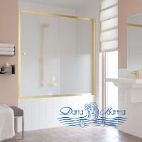 Шторка на ванну Vegas Glass ZV 150 09 10 профиль золото, стекло сатин