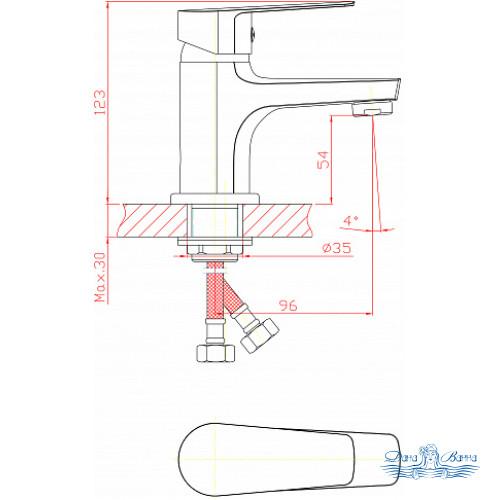 Смеситель 1 Orange Loop M26-021cr для раковины