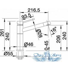 Смеситель Blanco Alta 512321 для кухни