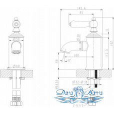 Смеситель Bravat Art F175109U для раковины