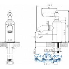 Смеситель Bravat Art F175109G для раковины
