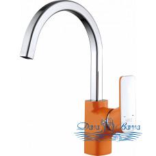 Смеситель D&K Berlin Kunste DA1432413 для кухни, оранжевый
