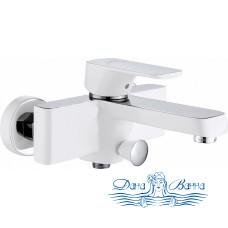 Смеситель D&K Berlin Steinbeis DA1433216 для ванны с душем, белый