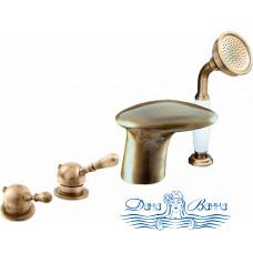 Смеситель Kolpa San Rav Slezak Cobra 100486 на борт ванны, бронза-антик