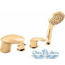 Смеситель Kolpa San Rav Slezak Cobra 100487 на борт ванны, золото