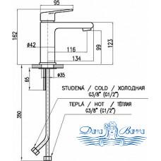 Смеситель Rav Slezak Colorado CO128.5 для раковины