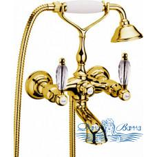 Смеситель Webert Alexandra AL720201010 золото для ванны с душем