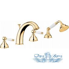 Смеситель Webert Dorian DO730101010 золото, на борт ванны