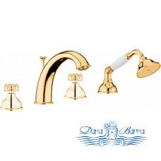 Смеситель Webert Ottocento OT730101010 золото, на борт ванны