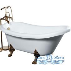 Акриловая ванна GEMY G9030 A 175х82 фурнитура золото