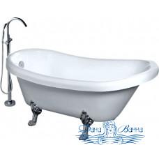 Акриловая ванна GEMY G9030 C 175x82 фурнитура хром